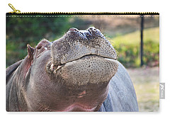 Carry-all Pouch featuring the photograph Give Me A Kiss Hippo by Eti Reid