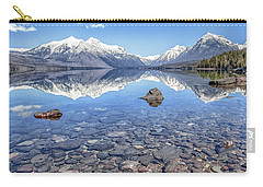 Glacial Lake Mcdonald Carry-all Pouch by Aaron Aldrich