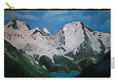 Carry-all Pouch featuring the painting Glacier Lake by Sharon Duguay