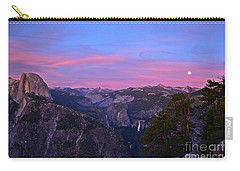 Glacier Point With Sunset And Moonrise Carry-all Pouch