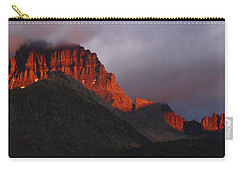 Carry-all Pouch featuring the photograph Glacier Sunrise by Alan Socolik