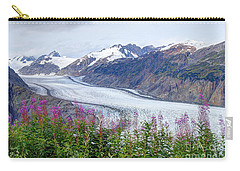 Glacier With Fireweeds Carry-all Pouch