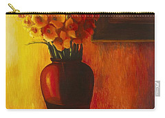 Gladioli Red Carry-all Pouch by Marlene Book