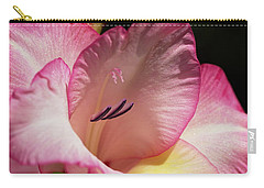 Gladiolus In Pink Carry-all Pouch by Joy Watson