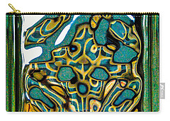Carry-all Pouch featuring the photograph Glass Block Abstract 3 by Dee Dee  Whittle