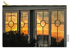 Glass Doors Aglow Carry-all Pouch by E Faithe Lester