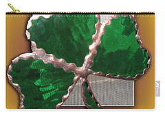 Carry-all Pouch featuring the photograph Glass Shamrock by Barbara McDevitt