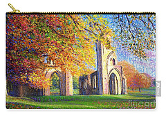 Glastonbury Abbey Fall Carry-all Pouch by Jane Small