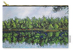 Carry-all Pouch featuring the painting Glenoak Lake by Jason Williamson