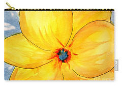 Carry-all Pouch featuring the painting Glicee Cyan-a-floral by Clayton Bruster