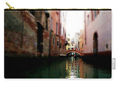 Carry-all Pouch featuring the photograph Gliding Along The Canal  by Micki Findlay