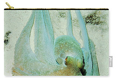 Carry-all Pouch featuring the photograph Gliding Reef Octopus by Amy McDaniel