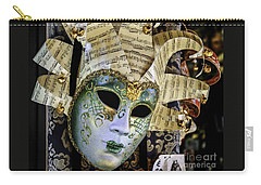 Glittering Venetian Mask Carry-all Pouch