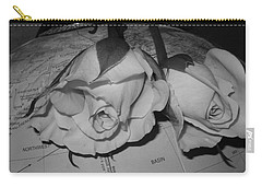 Carry-all Pouch featuring the photograph Global Monochrome Roses by Sandra Foster