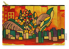 Carry-all Pouch featuring the painting Global Warning by Barbara St Jean