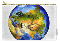 Globe World Map Carry-all Pouch