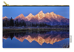 Carry-all Pouch featuring the photograph Glorious Morning Panorama by Benjamin Yeager