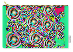 Carry-all Pouch featuring the digital art Glow. Colorful Design by Oksana Semenchenko