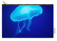 Glowing Blue Jellyfish Carry-all Pouch