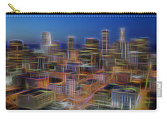 Glowing City Carry-all Pouch by Kelley King