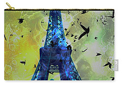 Glowing Eiffel Tower Carry-all Pouch