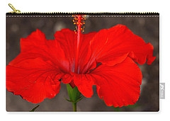 Glowing Red Hibiscus Carry-all Pouch