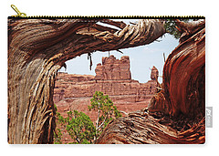 Carry-all Pouch featuring the photograph Gnarly Tree by Alan Socolik