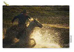 Go Cowboy Carry-all Pouch by Ana V Ramirez