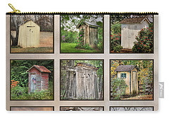 Go In Style - Outhouses Carry-all Pouch by Lori Deiter