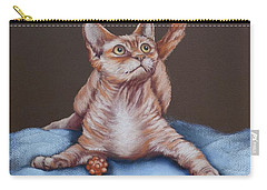 Carry-all Pouch featuring the painting Go On Throw It Again by Cynthia House
