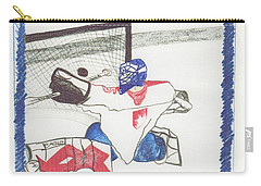 Carry-all Pouch featuring the drawing Goalie By Jrr by First Star Art