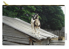 Carry-all Pouch featuring the photograph Goat On The Roof by Kerri Mortenson