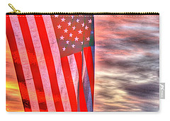 God Bless America Over Puget Sound Carry-all Pouch