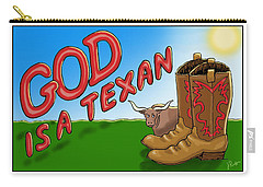 God Is A Texan Carry-all Pouch by Jerry Ruffin