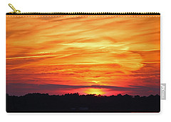 God Paints The Sky Carry-all Pouch by Cynthia Guinn