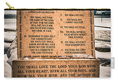 God's Ten Commandments Carry-all Pouch
