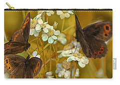 Carry-all Pouch featuring the photograph Gold And Brown by Jacqi Elmslie