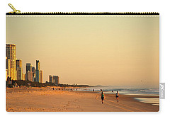 Carry-all Pouch featuring the photograph Gold Coast Beach by Eric Tressler