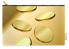 Carry-all Pouch featuring the digital art Gold Coins by Cyril Maza