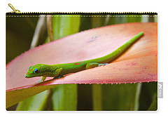 Gold Dust Day Gecko #2 Carry-all Pouch by Venetia Featherstone-Witty
