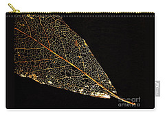 Carry-all Pouch featuring the photograph Gold Leaf by Ann Horn