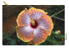 Carry-all Pouch featuring the photograph Gold Rim Hibiscus by Susan Wiedmann