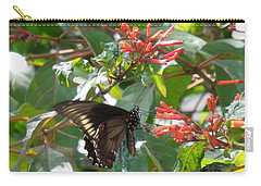 Carry-all Pouch featuring the photograph Gold Rim Swallowtail by Ron Davidson