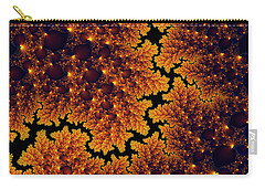Golden And Black Fractal Universe Carry-all Pouch