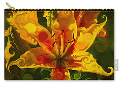 Carry-all Pouch featuring the painting Golden Beauties by Omaste Witkowski