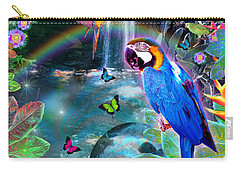 Golden Bluebirds Paradise Version 2 Carry-all Pouch