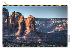 Carry-all Pouch featuring the photograph Golden Buttes by Lynn Geoffroy