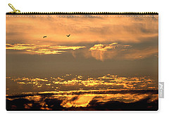 Carry-all Pouch featuring the photograph Golden Clouds by AJ  Schibig