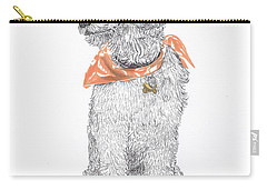 Trash Talking Golden Doodle Carry-all Pouch by Jack Pumphrey
