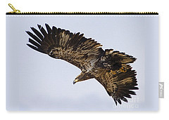 Carry-all Pouch featuring the photograph Golden Eagle by J L Woody Wooden